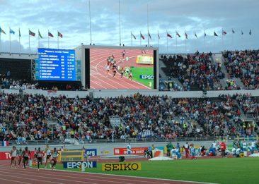 Yleisurheilustadionin tulostaulu